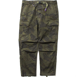 THE NORTH FACE PURPLE LABEL - Camouflage Print Webbing Belt Pants