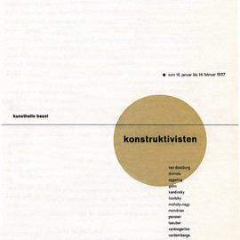 "Kunsthalle Basel - ""konstruktivisten"" Exhibition catalog, Designed by Jan Tschichold"
