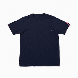 "the POOL aoyama - ""CMYK"" BACK BORDER POCKET TEE"