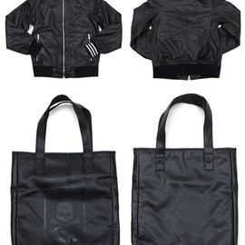 mastermind JAPAN - LEATHER FIRE BIRD TRACK TOP