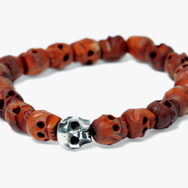WTAPS - Silver and Wood Bracelet