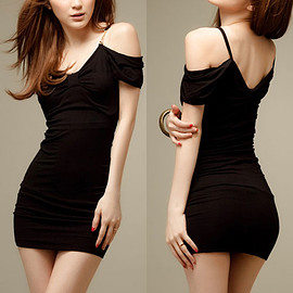 Sexy V-neck Off-shoulder Slim Fit Sling Dress