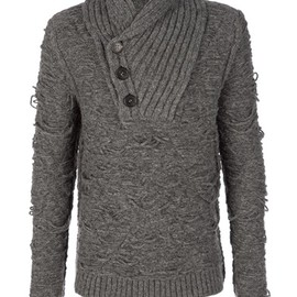 ISABEL BENENATO - Shawl collar sweater