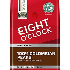 Eight O'Clock - Eight O'Clock Whole Bean Coffee, 100% Colombian Peaks, 40 Ounce
