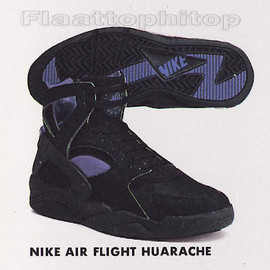 Nike - Air Flight Huarache - Black/Sagan Blue
