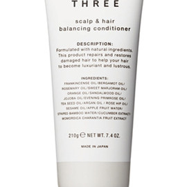 THREE - scalp & hair balancing conditioner