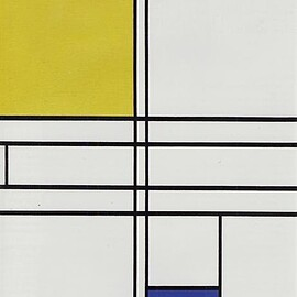 Piet Mondrian - Composition in White, Blue, and Yellow: C