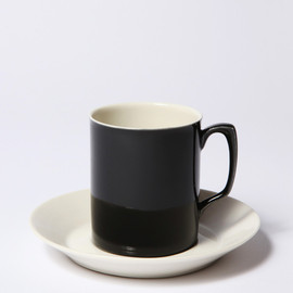 BRANKSOME CHINA - CUP & SAUCER BLACK