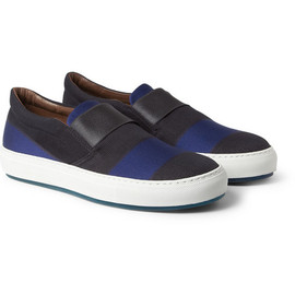 Acne - Hans Striped Slip-On Shoes