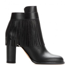 VALENTINO - New C-Rockee fringed leather ankle boots