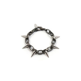 Joomi Lim - Image of MF Chain Bracelet w/Single Row Spikes - Matte Gunmetal