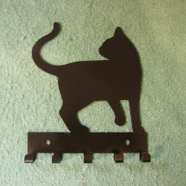 IowaMetalArt  - Cat Metal Key Holder