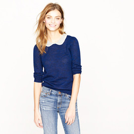 J.CREW - Peter Pan collar sweater (ultramarine pewter)
