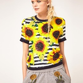 ASHISH - Ashish Sequin Top With Sunflower