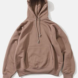 AURALEE - BAGGY POLYESTER SWEAT P/O PARKA[BROWN]