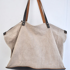 margarete hausler - linen leather tote