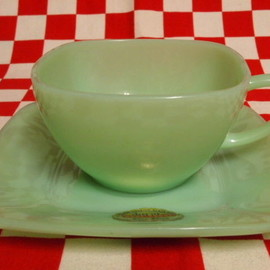 Jadeite Magic Gallery - Fire King Jadeite Charm Cup & Saucer #26
