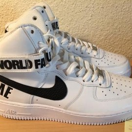 Nike - SUPREME × NIKE AIR FORCE 1 HIGH WHITE