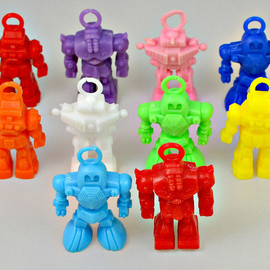 Parachute robot vending machine figures (one of seven)