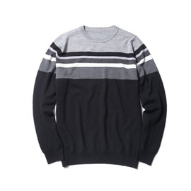 SOPHNET. - COLOR CHART BORDER CREW NECK KNIT