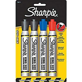 Sharpie - KING SIZE PERMANENT MARKET 4/PACK