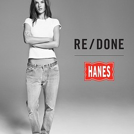 RE DONE  HANS - SLIM TEE