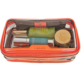 Anya Hindmarch - Anya Hindmarch/In Flight patent leather-trimmed travel case