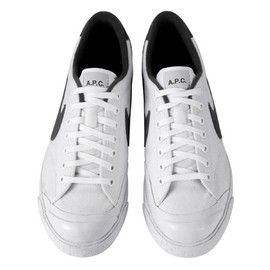 Nike Sportswear, A.P.C. - All Court White/Black
