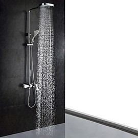 Faucetsmall - Contemporary Chrome Finish Shower Faucet (Handheld and Showerhead) - Faucetsmall.com