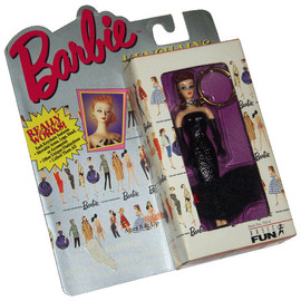 "Basic Fun Inc. - Barbie KEYCHAINS ""Solo in the Spotlight BARBIE Introduced 1960"""