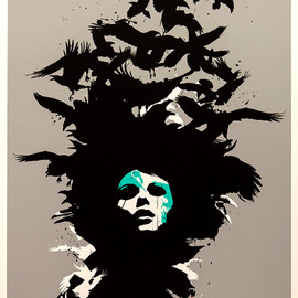 EELUS - Raven Haired, Screen Print by Eelus