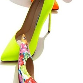 Manolo Blahnik - Neon and Floral Styles