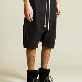 Rick Owens - Rick Owens Men's Drop Crotch Cotton Shorts