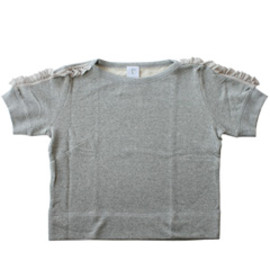 karen Walker - Ruffle Sleeve Top (grey)