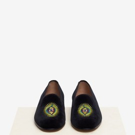 Stubbs & Wootton - Limited Edition Keiichi Tanaami 'Eyeball' slip-ons