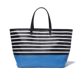 uniform experiment - BORDER TOTE BAG (BLUE)