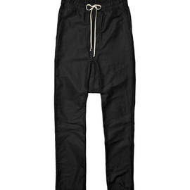 Rick Owens - Rick Owens Drawstring Drop Crotch Trousers