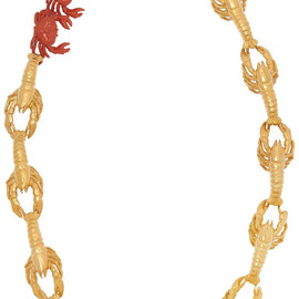 VIRZI+DE LUCA - Gold-plated and enamel lobster necklace