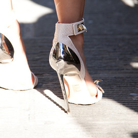 Givenchy - Close up shot of the Givenchy heels I wore for one of my Luisaviaroma looks