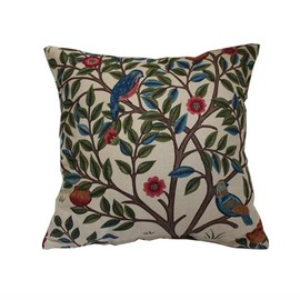 William Morris - Morris Kelmscott Tree クッションカバー Beige 40cm角
