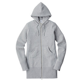 LOOPWHEELER - LW Light Long zip up hoodie for women's