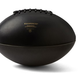 KILLSPENCER - Black Leather + Chacoal Grey Leather Football