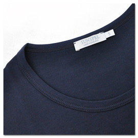 SUNSPEL - Long sleeve Crew Neck T-Shirts (Navy Blue)