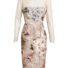 VALENTINO - Secret Garden Floral Printed Cotton-silk Dress
