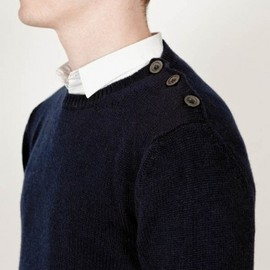 Chauncey - Cashmere button crew neck