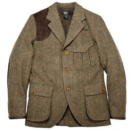 RRL - RRL DOUGLAS HOUNDSTOOTH TWEED SHOOTING JACKET