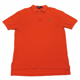 POLO RALPH LAUREN - Vintage Polo by Ralph Lauren Orange/Green Polo Shirt Mens Size Medium