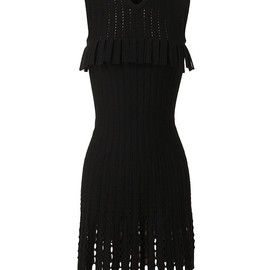 Azzedine Alaia - Ribbed Wool Crochet Dress