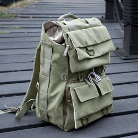Canvas Camera Backpack