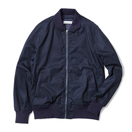 HEAD PORTER PLUS - BOMBER JACKET NAVY